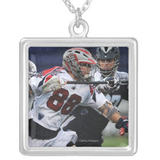 ANNAPOLIS, MD - AUGUST 27: Max Quinzani #88 3 Silver Plated Necklace