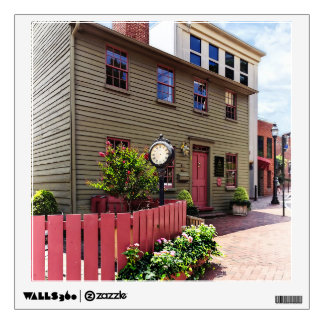 Annapolis MD - Clock by One State Circle Wall Decal