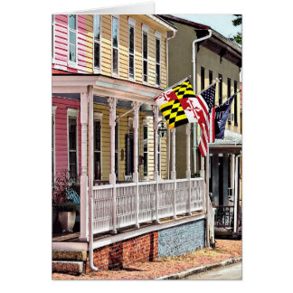 Annapolis MD - Flags Along East Street Card