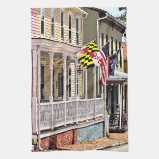 Annapolis MD - Flags Along East Street Hand Towel