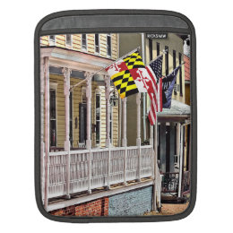 Annapolis MD - Flags Along East Street Sleeve For iPads