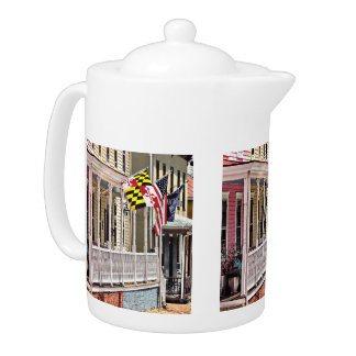 Annapolis MD - Flags Along East Street Teapot