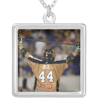 ANNAPOLIS, MD - JULY 02: Greg Bice #44 walksf 2 Silver Plated Necklace
