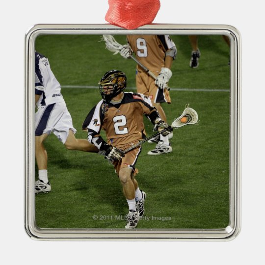 ANNAPOLIS, MD - JULY 02: Ned Crotty #2 Metal Ornament
