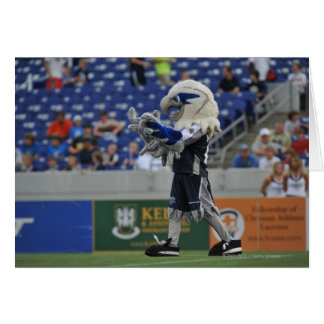 ANNAPOLIS, MD - JUNE 25:  Hawk-Eye cheers at the Card