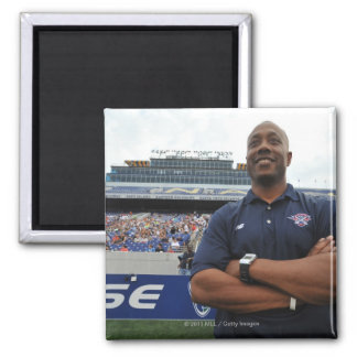ANNAPOLIS, MD - JUNE 25:  Head coach Billy Day 2 Inch Square Magnet