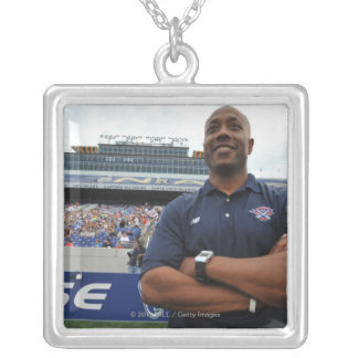 ANNAPOLIS, MD - JUNE 25:  Head coach Billy Day Square Pendant Necklace