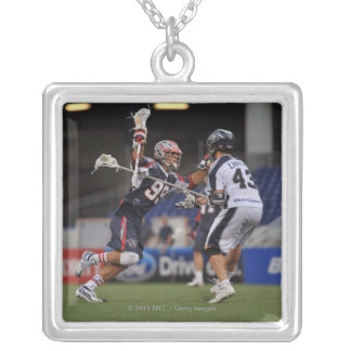 ANNAPOLIS, MD - JUNE 25:  Paul Rabil #99 2 Silver Plated Necklace