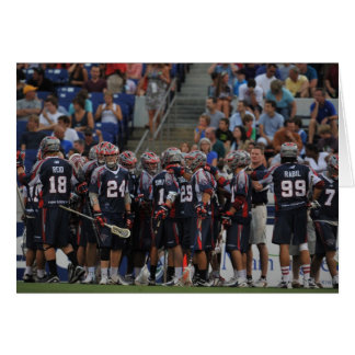 ANNAPOLIS, MD - JUNE 25:  The Boston Cannons Card