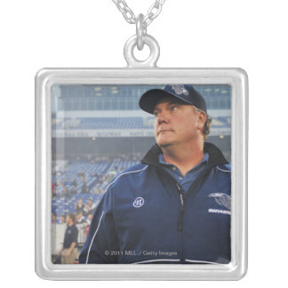ANNAPOLIS, MD - MAY 14:  Head coach Brendan Silver Plated Necklace
