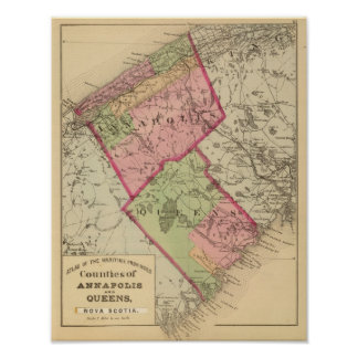 Annapolis, Queens counties, NS Poster