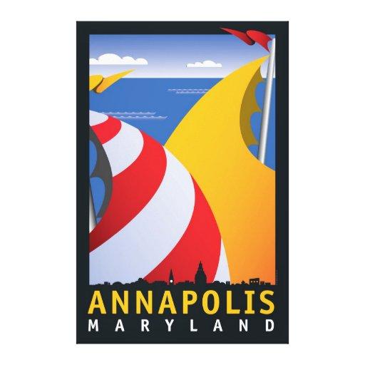 Annapolis, Sails Canvas Print