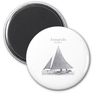 Annapolis Skipjack 2 Inch Round Magnet