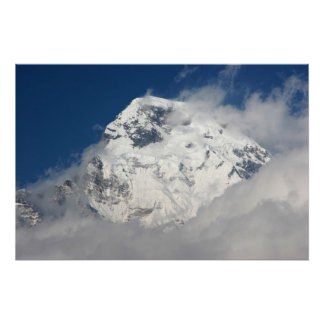 Annapurna South and Clouds 1 Poster