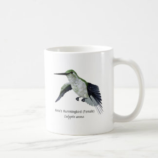 Annas' Female Hummingbird with Name Coffee Mug