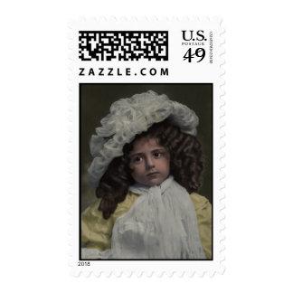 """""""Anna's Hat"""" Fine Art Postage Stamp"""