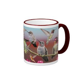 Anna's Hummingbird and Rufous Hummingbird Ringer Mug