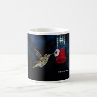 Anna's Hummingbird at feeder Coffee Mug