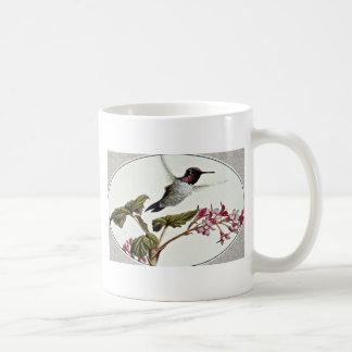 Anna's hummingbird  flowers mug