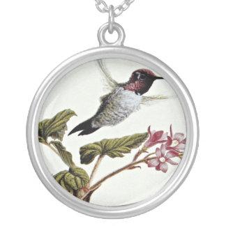 Anna's hummingbird  flowers pendant