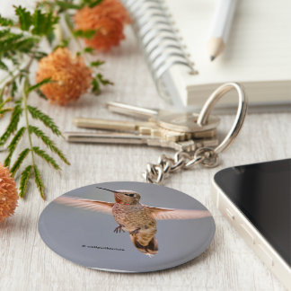 Anna's Hummingbird Hovers in Place Keychain