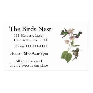 Anna's Hummingbird, James Audubon Business Card