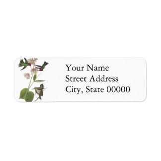 Anna's Hummingbird, James Audubon Return Address Label