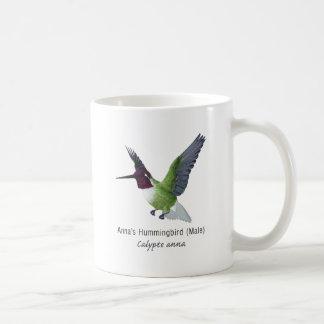 Anna's Hummingbird Male with Name Coffee Mugs