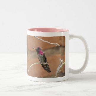 Anna's Hummingbird Two-Tone Coffee Mug