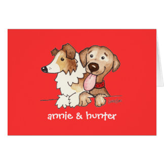 Anne and Hunter Stationery Note Card