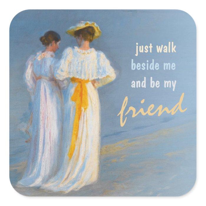 Anne and Marie CC0152 Krøyer Friendship Square Sticker