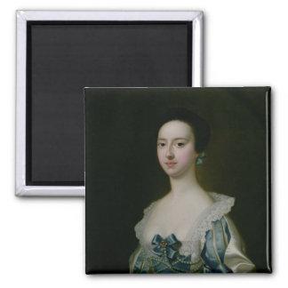 Anne Bateman, later Mrs. John Gisbourne, 1755 2 Inch Square Magnet