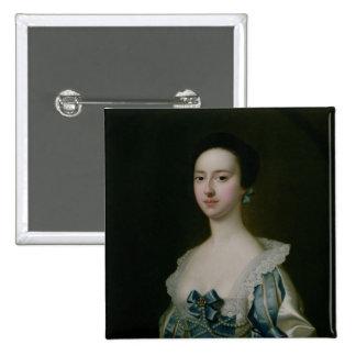 Anne Bateman, later Mrs. John Gisbourne, 1755 Pinback Button