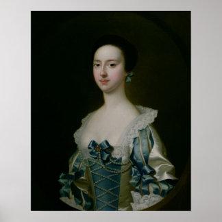 Anne Bateman, later Mrs. John Gisbourne, 1755 Poster
