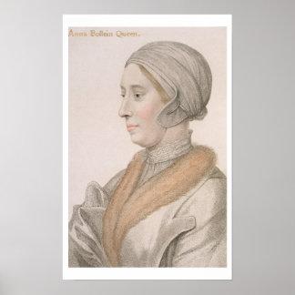 Anne Boleyn (1507-36) engraved by Francesco Bartol Poster