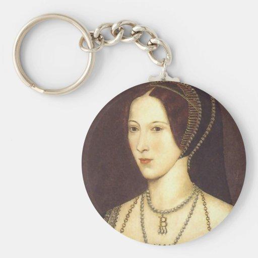 Anne Boleyn Basic Round Button Keychain