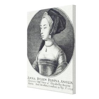 Anne Boleyn, etched by Wenceslaus Hollar, 1649 Canvas Print