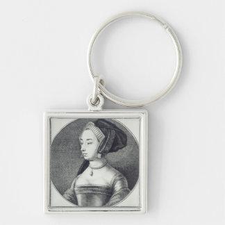 Anne Boleyn, etched by Wenceslaus Hollar, 1649 Key Chains