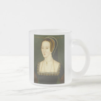 Anne Boleyn Second Wife of Henry VIII Portrait Frosted Glass Coffee Mug