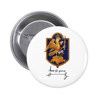 Anne Boleyn Signature & Coat of Arms 2 Inch Round Button
