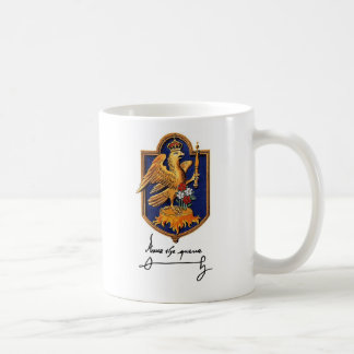 Anne Boleyn Signature & Coat of Arms Coffee Mug