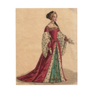 Anne Boleyn Wood Wall Print Wood Print