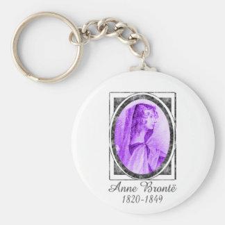 Anne Brontë Basic Round Button Keychain