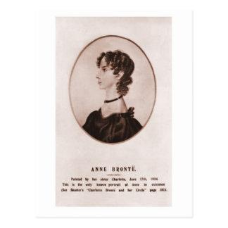 Anne Brontë portrait sepia Postcard