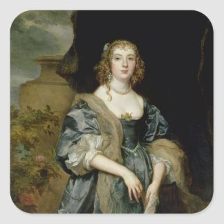 Anne Carr, Countess of Bedford, c.1638 Square Sticker