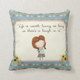 Anne Classic Literature Quote Vintage Nursery Throw Pillow