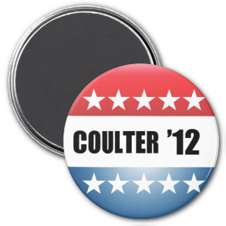 ANNE COULTER 3 INCH ROUND MAGNET