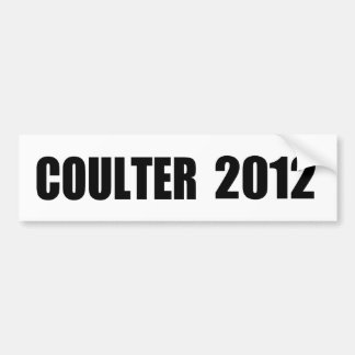 ANNE COULTER BUMPER STICKERS