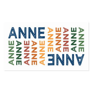 Anne Cute Colorful Business Card