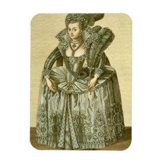 Anne de 1574-1619) esposas de Dinamarca (de James  Iman Rectangular